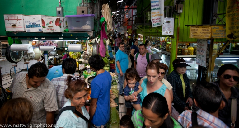 People shop inside the central marketing in San Jose, the Capital city of Costa Rica.