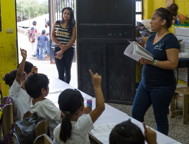 Volunteers and registered nurses working with the non-profit organization, Worthy Village, visited a school town of Santa Catarina in Guatemala. Volunteers taught children about proper dental and hand hygiene, as well as healthy eating habits.
