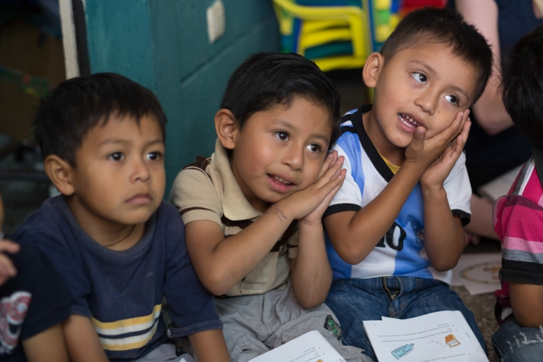 Volunteers and registered nurses working with the non-profit organization, Worthy Village, visited a school town of San Juan in Guatemala. Volunteers taught children about proper dental and hand hygiene, as well as healthy eating habits.